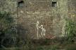 Figura na murze Włodzimierz Fruczek rok 1970, ul. Grzybowska róg Żelaznej, fot. Tomasz Sikorski