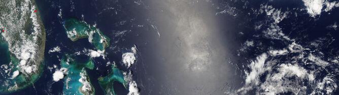 Chmura dymu wielkości Florydy