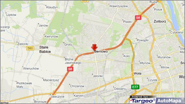Wypadek na Bemowie targeo.pl