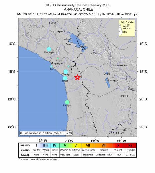 Ziemia zatrzęsła się w Chile i w Peru