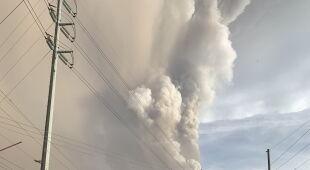 Erupcja wulkanu Taal na Filipinach (PAP/EPA/FRANCIS R. MALASIG)