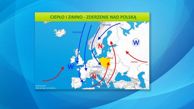 Ciepło i zimno - zderzenie nad Polską