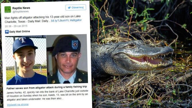 Aligator rzucił się na 13-latka i wciągnął go do wody
