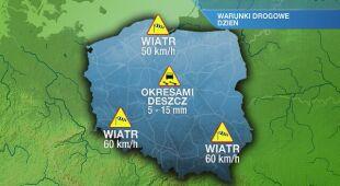 Warunki drogowe w piątek 6.05
