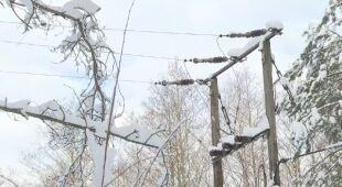 Zaspy śniegu i awarie prądu na Podlasiu